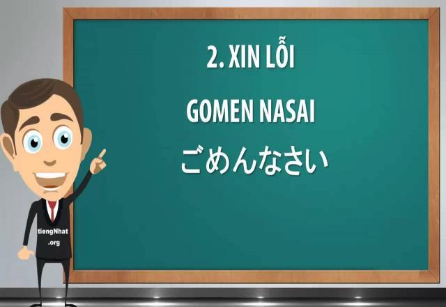 Những câu nói xin lỗi trong tiếng Nhật