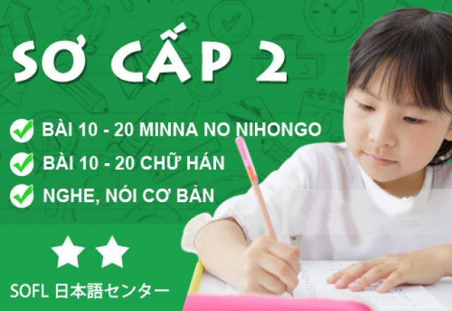 Lịch khai giảng tháng 6 - Lớp tiếng Nhật sơ cấp 2