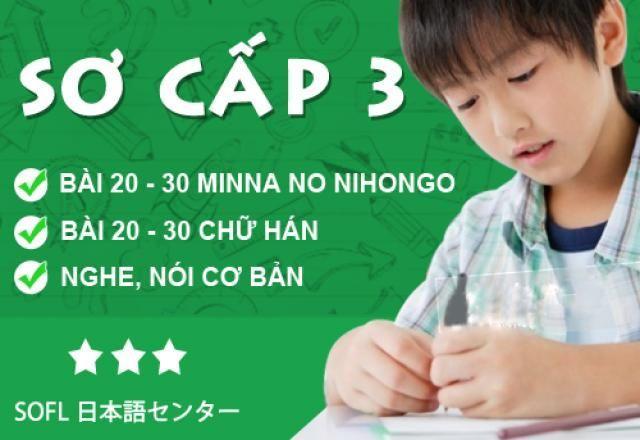 Lớp học tiếng Nhật sơ cấp 3 - tháng 8 năm 2016