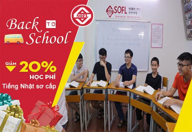 Back to school - Lịch khai giảng tiếng Nhật sơ cấp 1 tại SOFL HCM