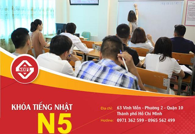 Lịch khai giảng khóa học tiếng Nhật N5 tháng 10/2019 tại TP.HCM